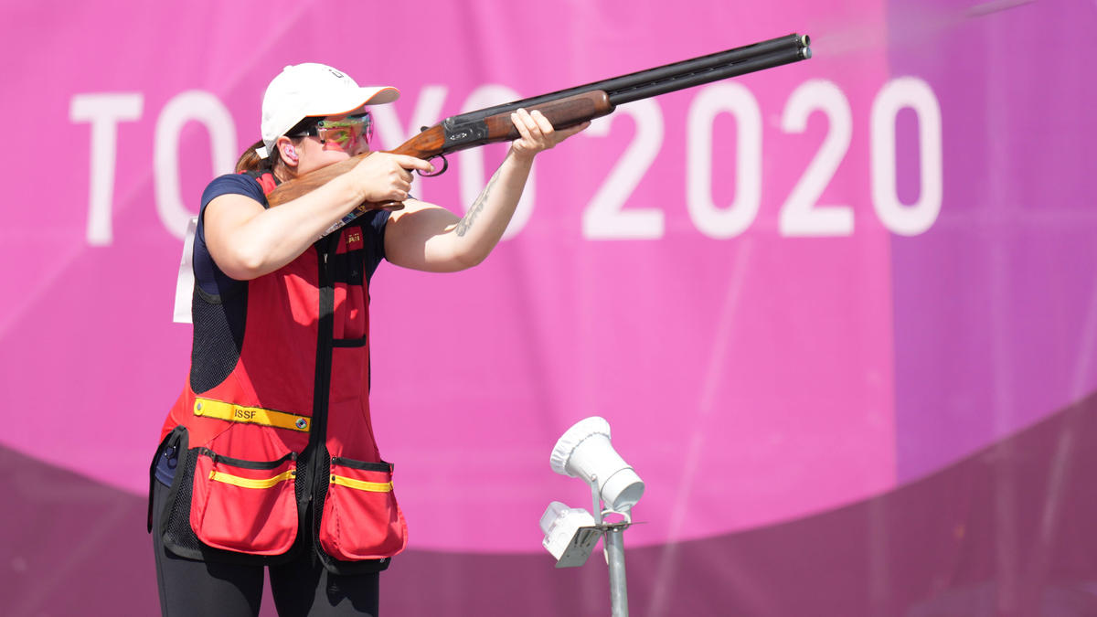 Belegte im Skeet-Finale den fünften Platz:Nadine Messerschmidt