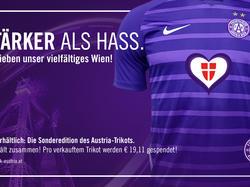 Die Austria wird in den nächsten beiden Bundesligaspielen in einem Sonderdress auflaufen