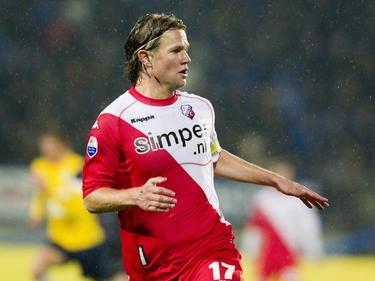 Alje Schut tijdens RKC Waalwijk - FC Utrecht, in het seizoen 2011/2012. (21-04-2012)