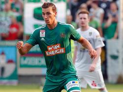 Im Cupspiel in Weiz hatte Dominik Wydra seinen vorläufig letzten Auftritt im Rapid-Dress