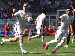 Francesco Totti jubelt nach seinem Anschlusstor gegen den FC Torino (25.09.16).