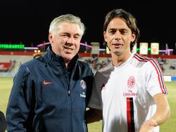 Alte Bekannte: Carlo Ancelotti und Filippo Inzaghi