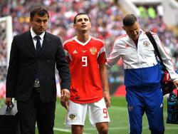 Alan Dzagoev verletzte sich gegen Saudi-Arabien
