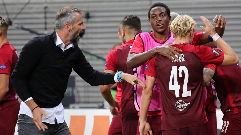 Salzburgs Trainer Marco Rose sieht im Spiel gegen Leipzig nichts Besonderes