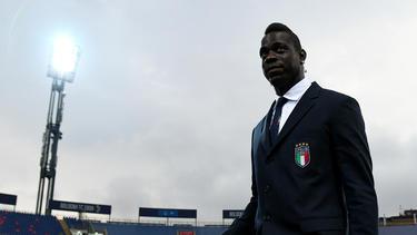 Balotelli en una convocatoria con Italia.