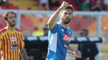 Llorente brilló contra el Lecce con un doblete.