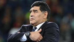 Diego Maradona wurde begeistert empfangen