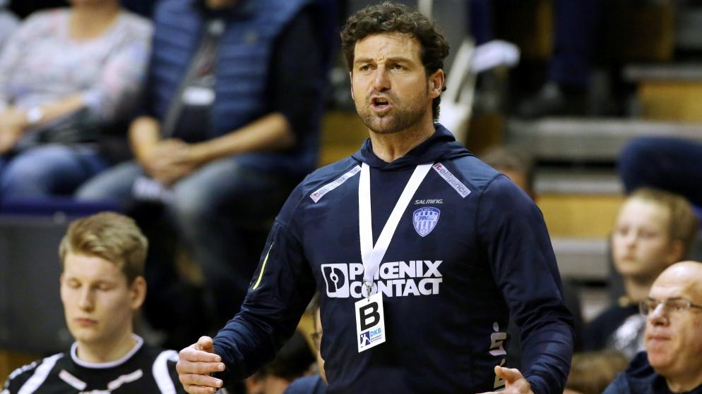 Trainer Florian Kehrmann vom TBV Lemgo