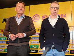 Peter Stöger (r.) hat den BVB vom achten Rang zurück auf Platz zwei geführt