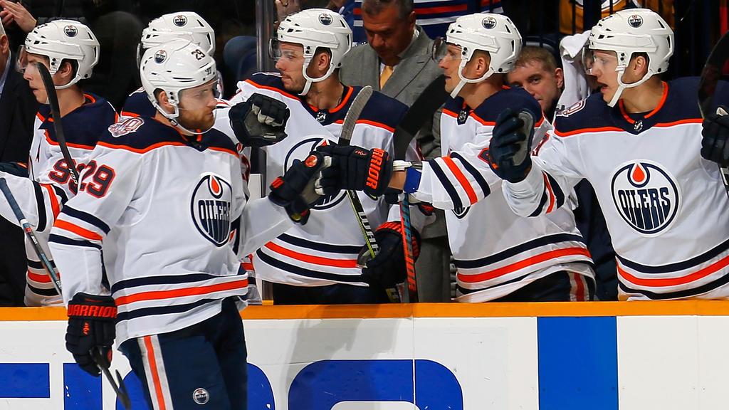 Edmontons Leon Draisaitl erzielte seinen 77. Scorerpunkt