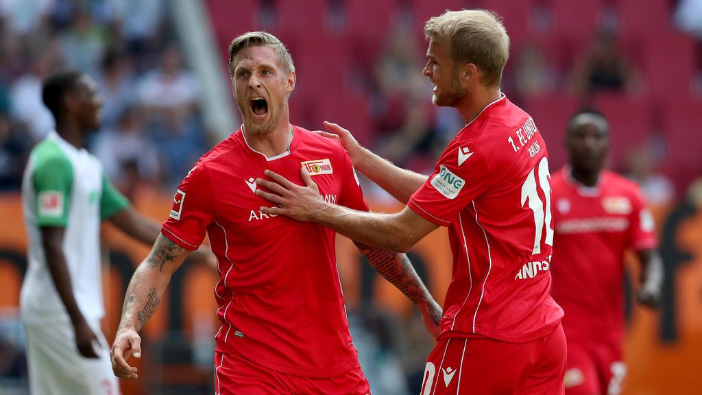 Die beiden Joker Sebastian Polter und Sebastian Andersson bescherten Union den ersten Bundesliga-Punkt