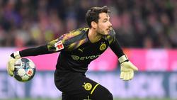 Hat mit Dortmund weiter die Meisterschaft als Ziel: BVB-Keeper Roman Bürki