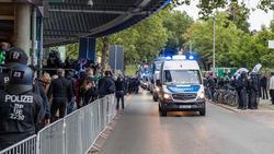 Das Nordderby verlief laut der Polizei friedlich