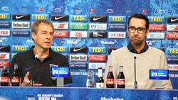 Waren sich nicht über die Aufteilung von Kompetenzen einig: Michael Preetz (r.) und Jürgen Klinsmann