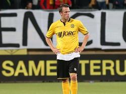 Anco Jansen is teleurgesteld na afloop van Roda JC Kerkrade - NAC Breda. (28-05-2015)
