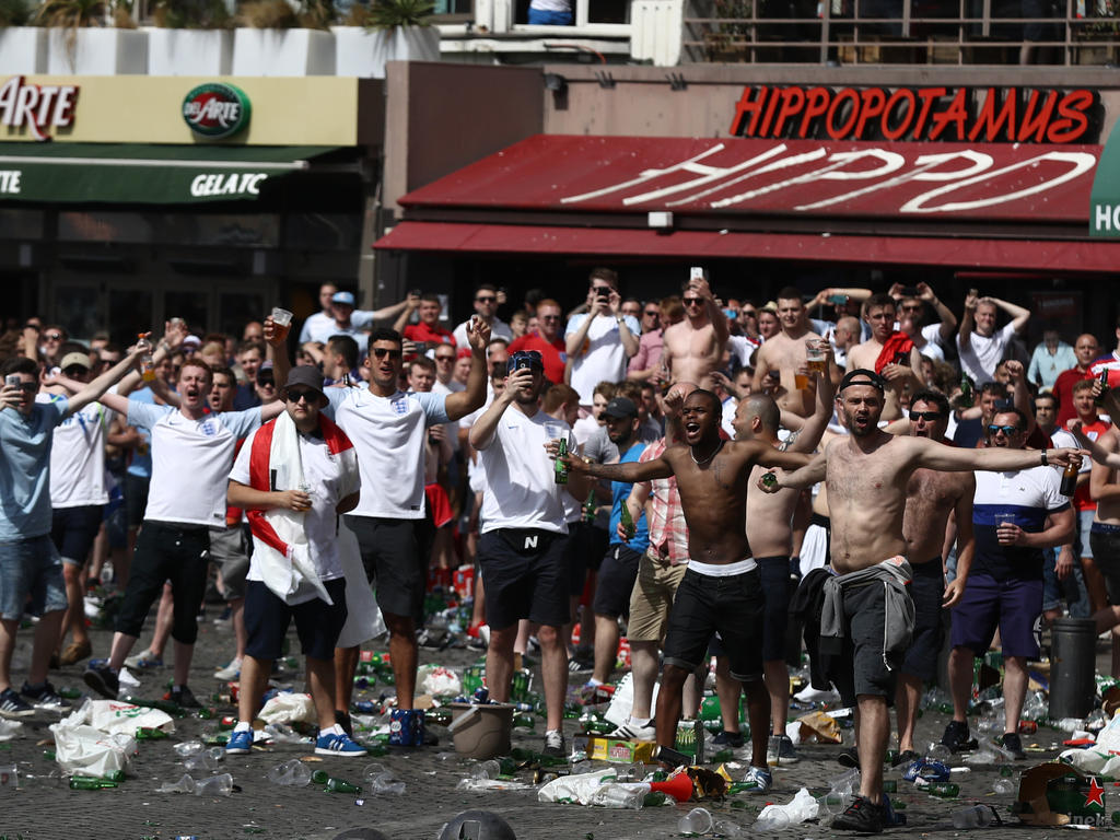 Bei der EURO 2016 in Frankreich kam es zu Ausschreitungen von englischen Hooligans