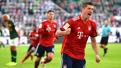 Robert Lewandowski traf in Wolfsburg doppelt