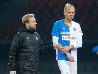 Raphael Holzhauser erlitt beim 2:1 der Grasshoppers gegen St. Gallen einen Armbruch