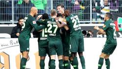 Der VfL Wolfsburg setzte sich gegen Borussia Mönchengladbach durch