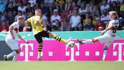 Borussia Dortmund setzte sich gegen den VfB Stuttgart durch