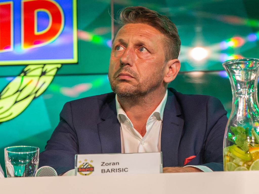 Rapid-Sportchef Zoran Barišić stand weltfussball im großen Interview Rede und Antwort