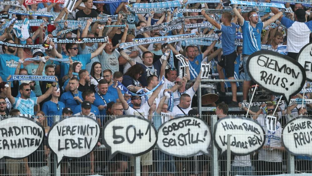 Fans des Chemnitzer FC am Pranger