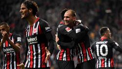 Eintracht Frankfurt feiert einen Dreier zum Auftakt des achten Spieltags der Bundesliga