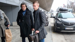 Dani Olmo am Freitag vor seinem Flug nach Leipzig