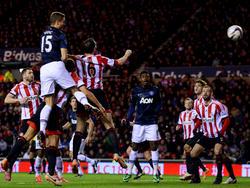 Nemanja Vidic erzielte den einzigen Treffer für Manchester United