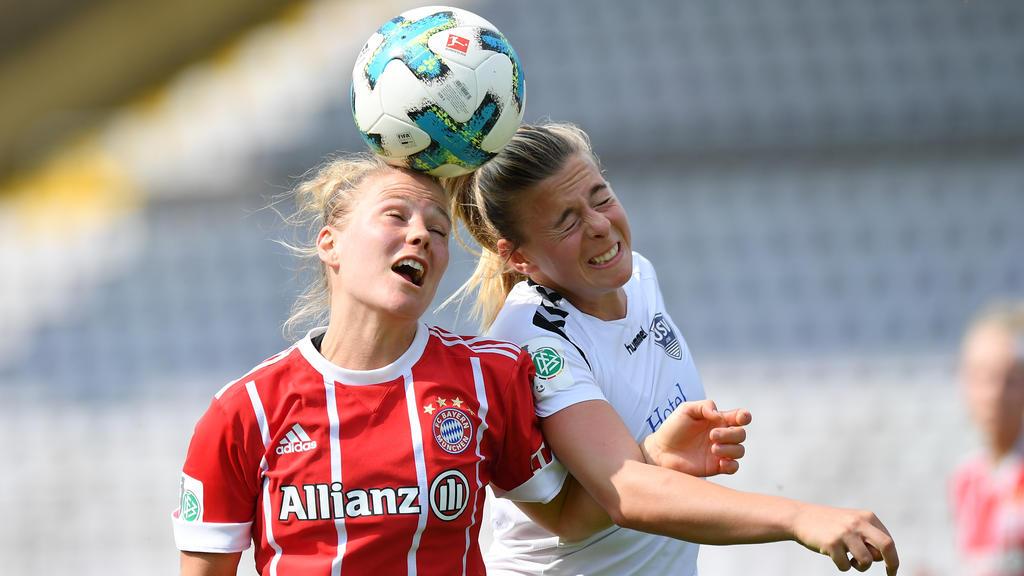 Beim furiosen 10:1 gegen Leverkusen hat auch Leonie Maier getroffen