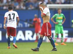 Los jugadores del Hamburgo cayeron abatidos tras el pitido final. (Foto: Getty)