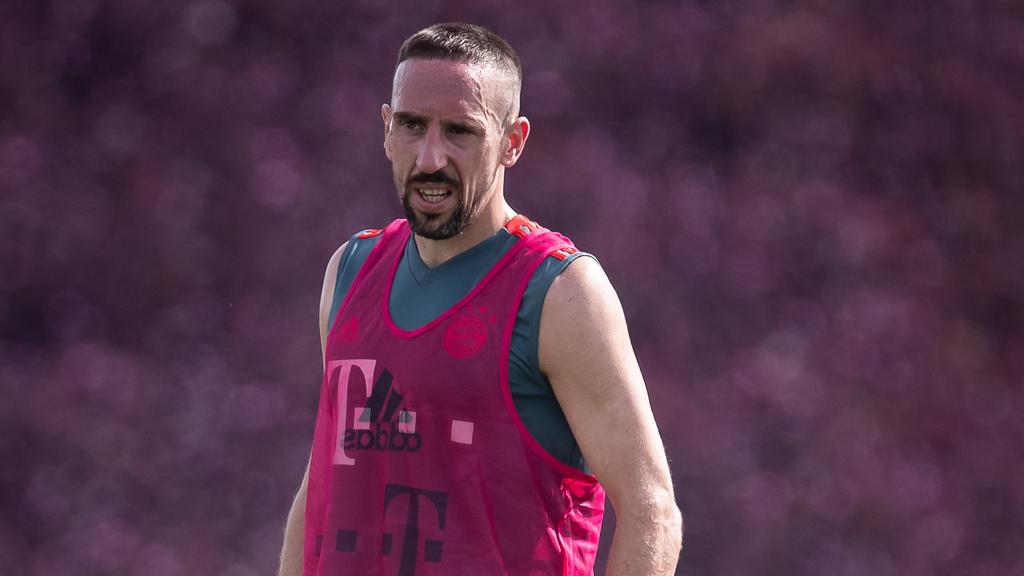 Franck Ribéry zog sich wohl eine Oberschenkelverletzung zu