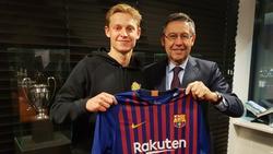 Frenkie de Jong wechselt zum FC Barcelona (Bild: twitter.com/fcbarcelona_es)