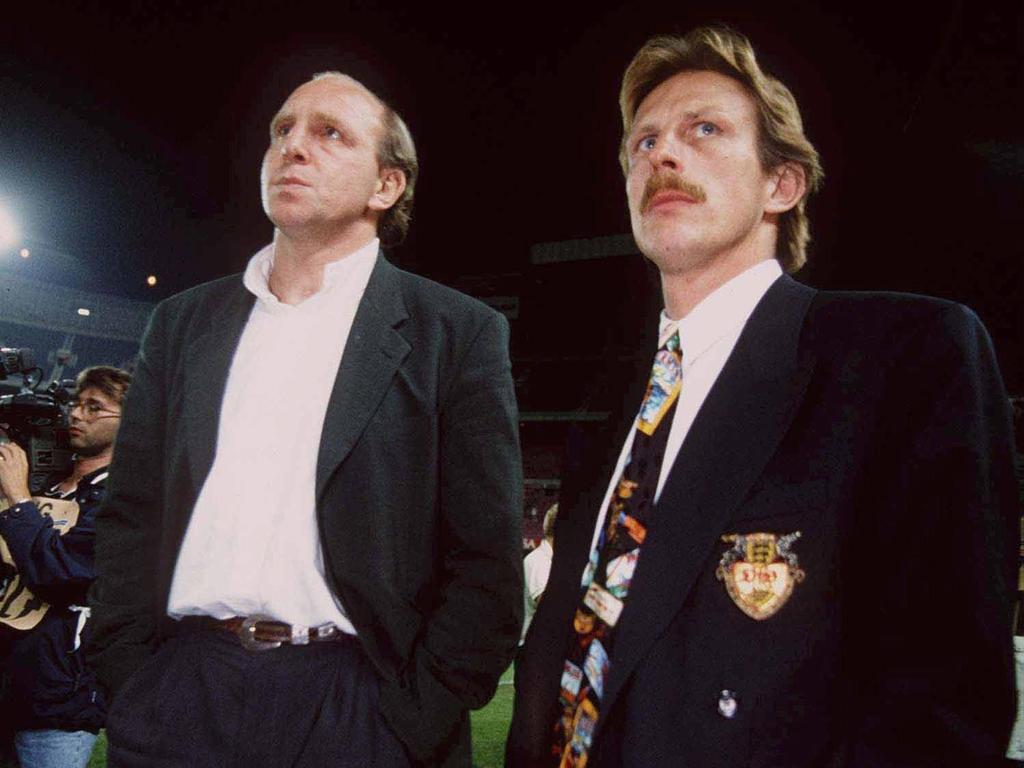 Christoph Daum (r.) unterlief gegen Leeds ein folgenschwerer Fehler