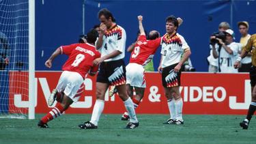 Yordan Letchkov (Nr. 9) besiegelte das deutsche Aus bei der WM 1994