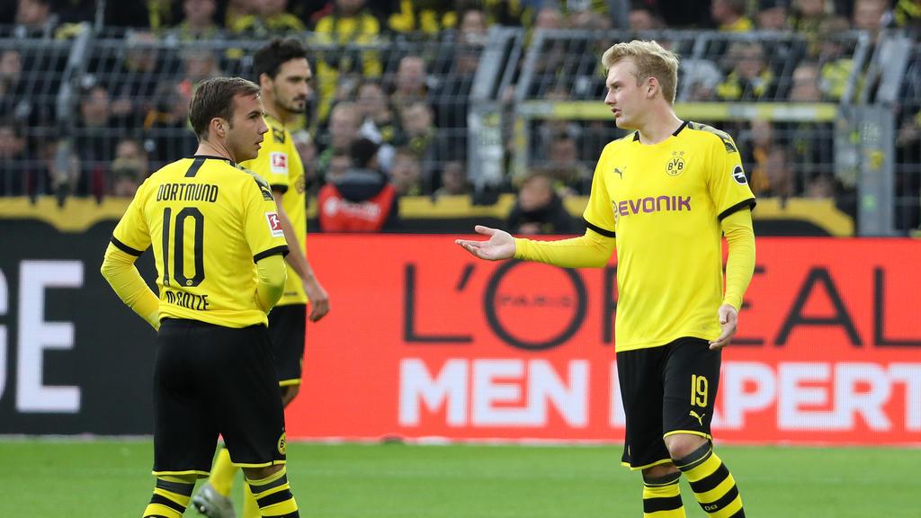 Zählen zu den (potenziellen) Verlieren beim BVB: Mario Götze (l.) und Julian Brandt