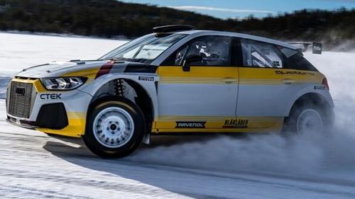 Der Audi A1 quattro bei Tests auf Schnee und Eis