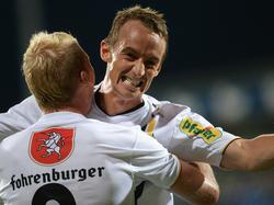 Hannes Aigner hat mehrfach Grund zu feiern.