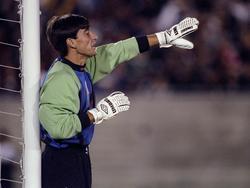 Óscar Ibáñez en su época como portero de la selección peruana. (Foto: Getty)