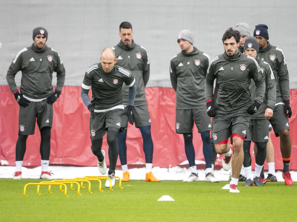 Die Bayern-Spieler beim Abschlusstraining
