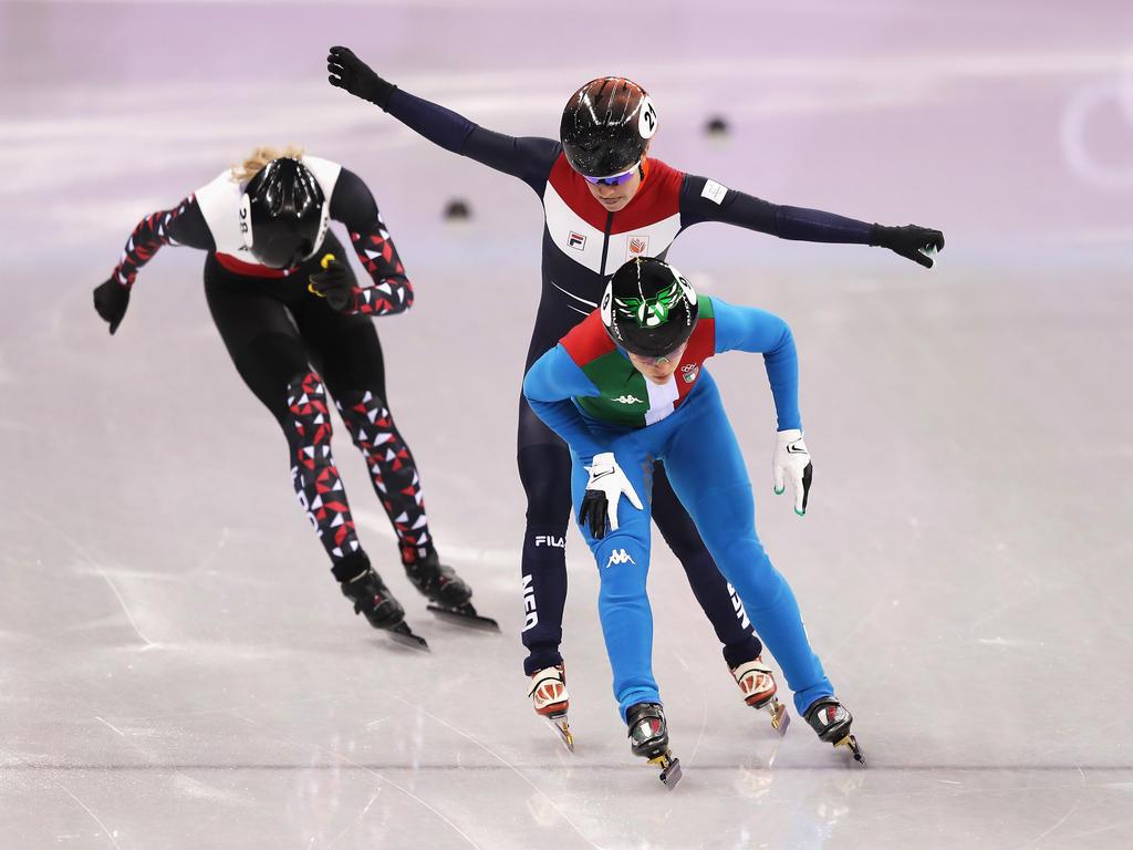 Ariana Fontana hat ihren ersten Olympia-Sieg errungen