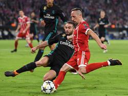 Franck Ribéry (re.) wird gegen Real gefragt sein