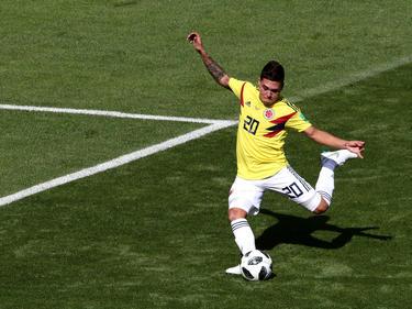 Juan Quintero marcó de tiro libre directo ante Japón. (Foto: Getty)