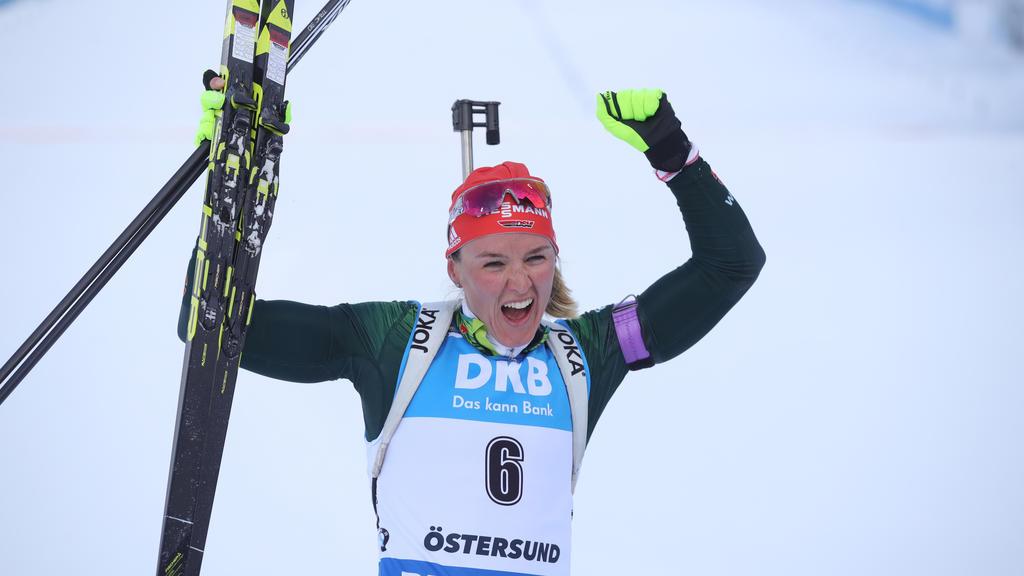 Denise Herrmann holte bei der WM Gold in der Verfolgung