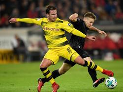 Mario Gotze en el reciente duelo contra el Stuttgart. (Foto: Getty)
