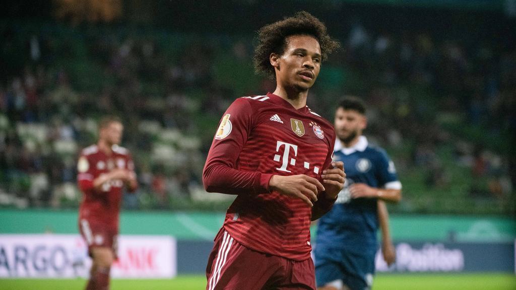 Leroy Sané traf beim Sieg des FC Bayern