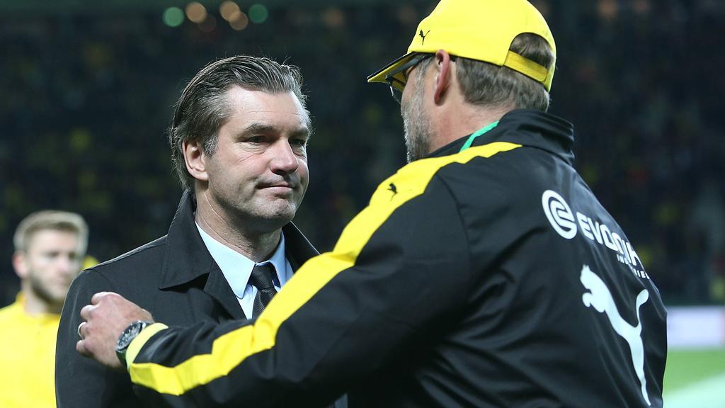 Einst Weggefährten beim BVB: Michael Zorc und Jürgen Klopp