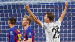 Doppeltorschütze für den FC Bayern gegen Barca: Thomas Müller