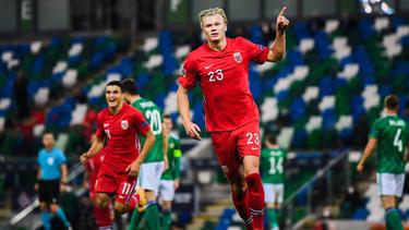 Erling Haaland war der Matchwinner für Norwegen