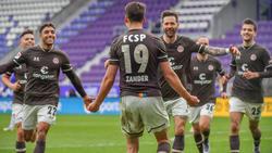 Der FC St. Pauli fertigte Erzgebirge Aue mit 3:1 ab